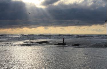 Место впадения р.Сочи в море.