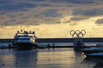 Вид с морского вокзала.